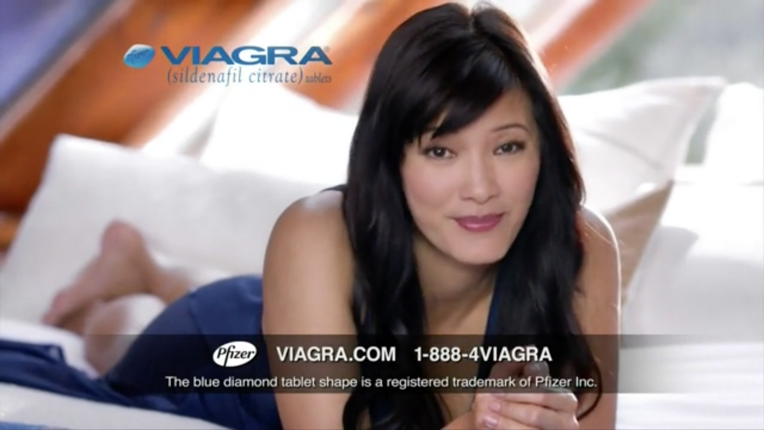 Viagra ad girl in football jersey