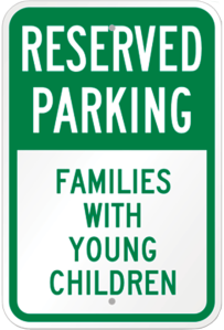 Families With Children Parking Sign